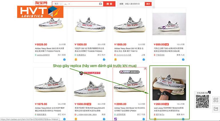 Hướng dẫn cách order giày replica Taobao. Nguồn hàng Like Auth