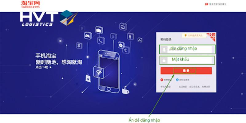 """Cách đăng nhập Taobao để xem """"GIÁ THẬT"""" của sản phẩm"""