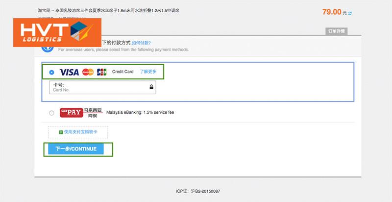 Cách thức mua hàng trên Taobao không cần thẻ ngân hàng Trung Quốc