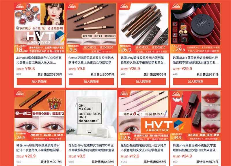 Link order đồ mỹ phẩm taobao