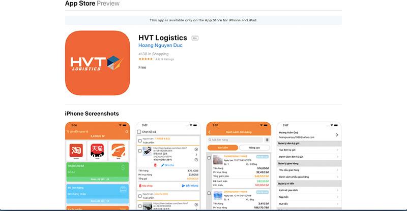 Mua hàng trên Taobao bằng tiếng Việt dễ dàng với app HVT