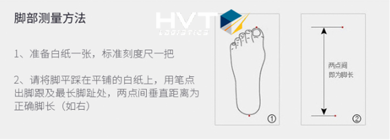 Kẻ đường đo từ đầu ngón chân đến gót chân