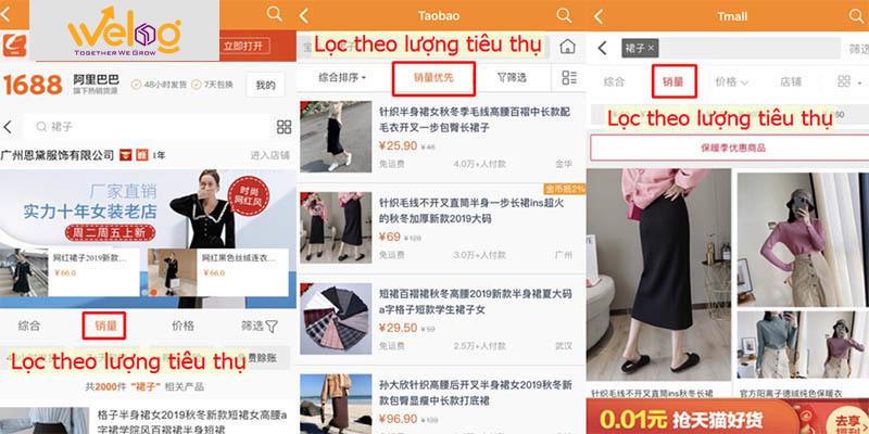 Hướng dẫn cách đặt hàng Taobao trên điện thoại