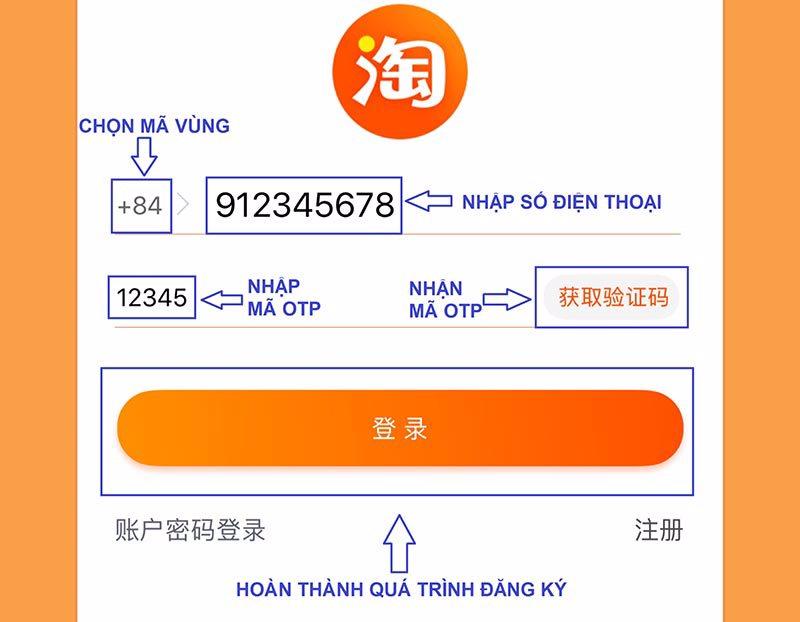 Cách đăng ký tài khoản Taobao.com
